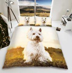 3D print Westie cotton blend duvet cover