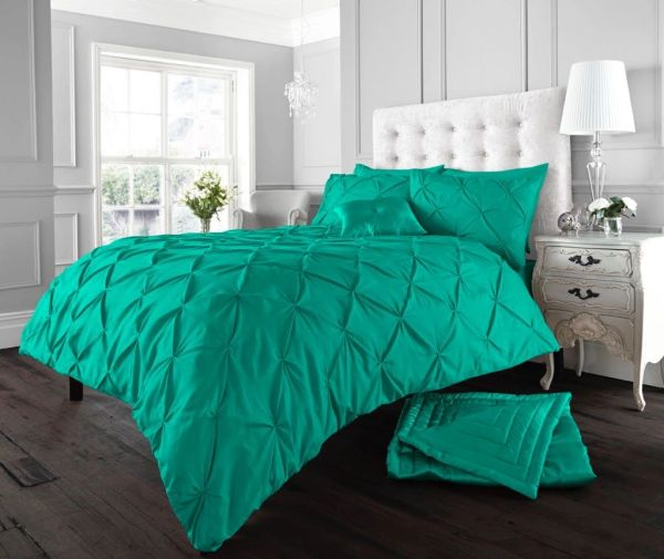 Alford deep teal duvet cover