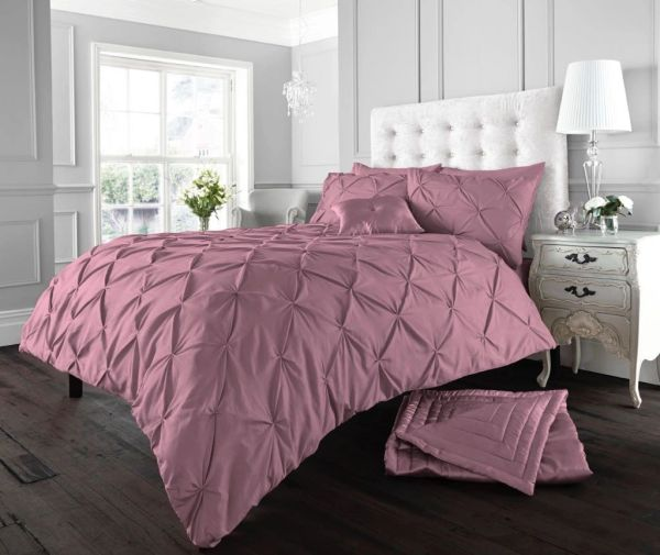 Alford purple rose cotton blend duvet cover