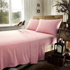 Pink flannelette flat sheet