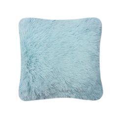 Fluffy fur duck egg cushion cover
