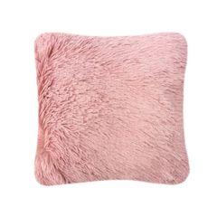 Fluffy fur pink cushion cover