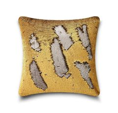 Shiny sequin gold/silver cushion cover
