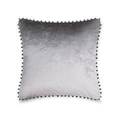 Pom pom silver cushion cover
