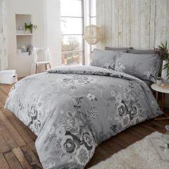 Eaton grey flannelette duvet cover