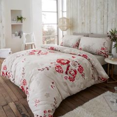 Eaton red flannelette duvet cover