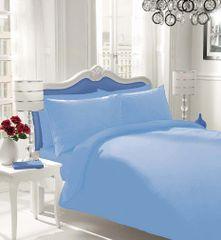Plain blue flannelette duvet cover