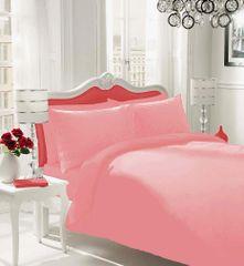 Plain pink flannelette duvet cover