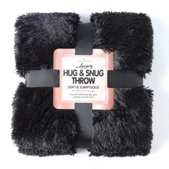 Fluffy Fur black throw