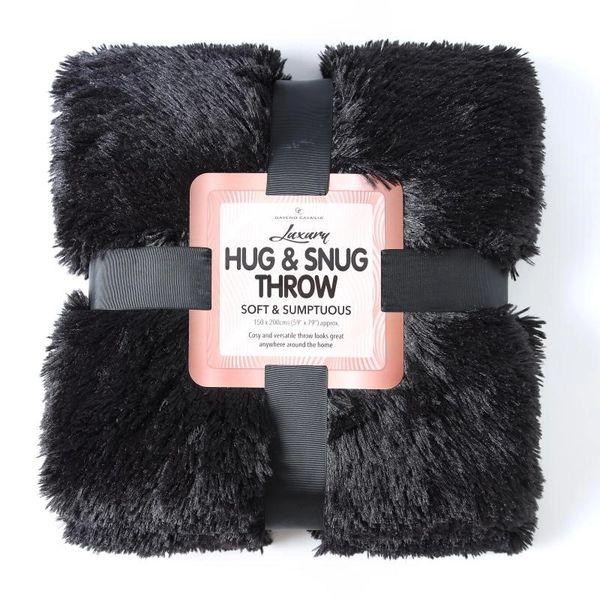 Fluffy Fur black throw