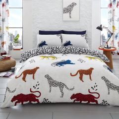 Cheetah cotton blend duvet cover