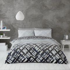 Elijah grey cotton blend duvet cover