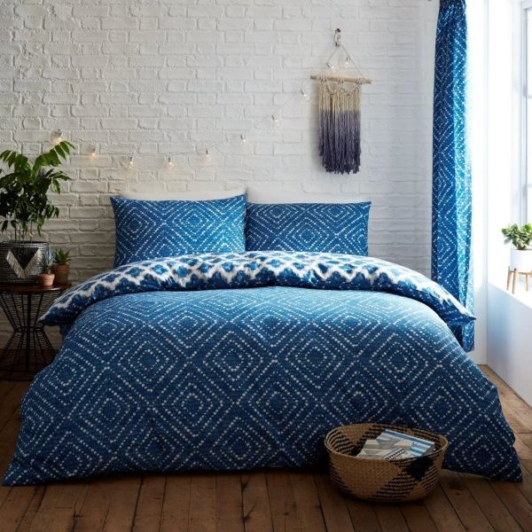 Indigo Diamond duvet cover