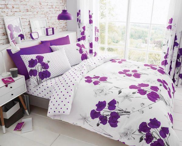 Poppy aubergine duvet cover