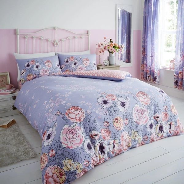Violet Cottage lilac duvet cover