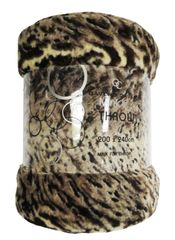Animal Skin Jungle mink faux fur throw / blanket