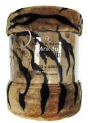 Animal Skin light brown mink faux fur throw / blanket