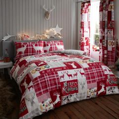 Xmas Patchwork Stag duvet cover