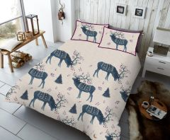 Winterberry Stag blue duvet cover