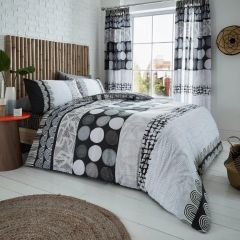 Anouk grey cotton blend duvet cover