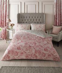 Bellerose pink floral quilt cover set