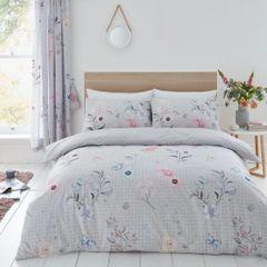 Cecilia grey cotton blend duvet cover