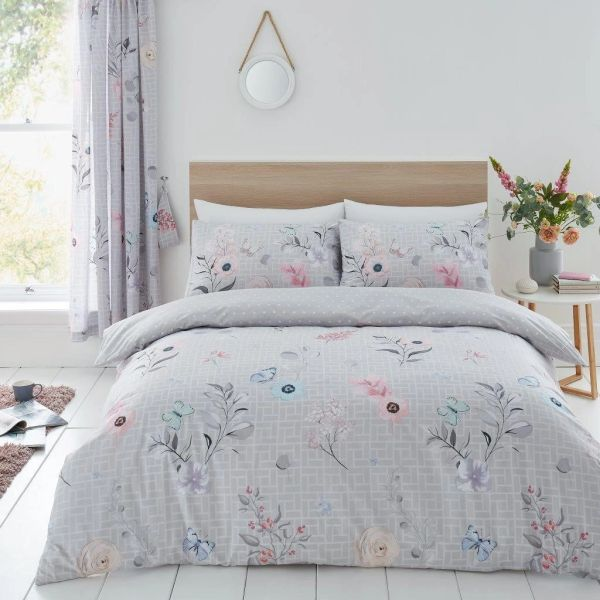 Cecilia grey duvet cover