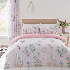 Cecilia pink cotton blend duvet cover