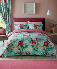 Ciara aqua cotton blend duvet cover