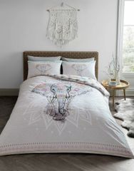 Ebony natural cotton blend duvet cover