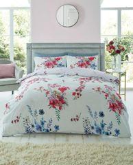 Emilia grey cotton blend duvet cover