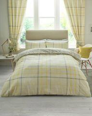 Hartley Check mustard cotton blend duvet cover