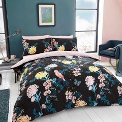 Japanese Floral cotton blend duvet cover