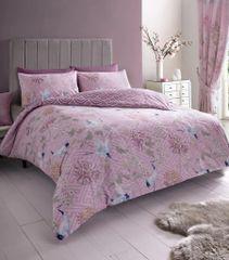 Jasmine pink cotton blend duvet cover