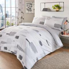 Jonah grey cotton blend duvet cover