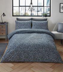 Leopard Skin grey cotton blend duvet cover