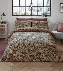 Leopard Skin beige cotton blend duvet cover