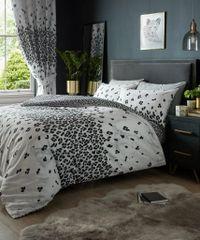 Marble Leopard cotton blend duvet cover