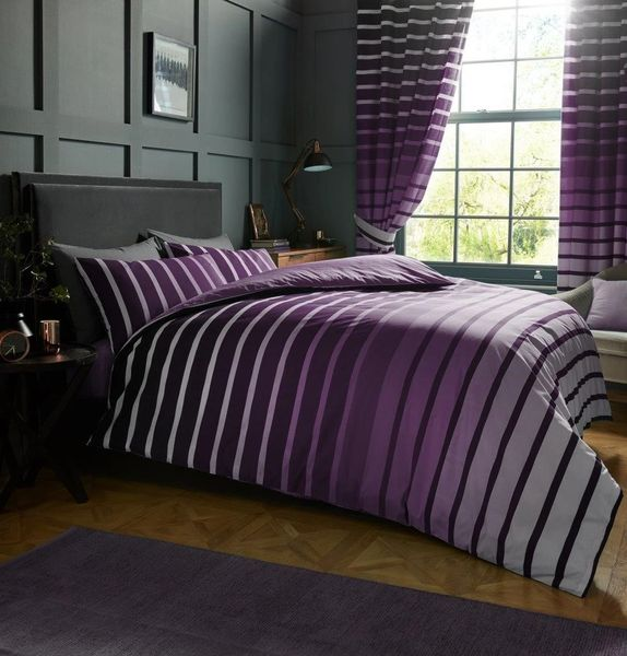 Oscar purple duvet cover