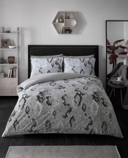 Snake Skin grey duvet cover