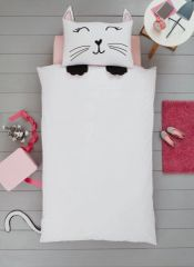 Cat shaped duvet cover