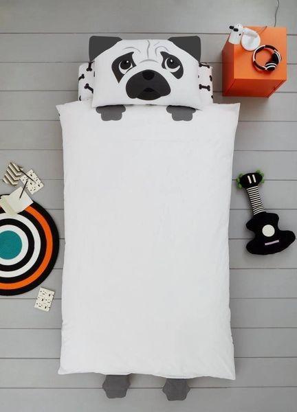 Dog shaped duvet cover