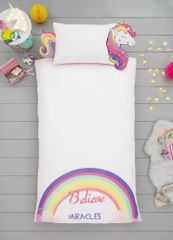 Unicorn shaped duvet cover