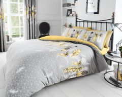Feathers yellow cotton blend duvet cover