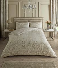 Antoinette beige cotton blend duvet cover