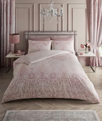 Antoinette pink cotton blend duvet cover