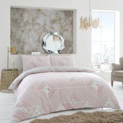 Harmony blush pink cotton blend duvet cover