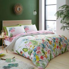 Leila tropical cotton blend duvet cover