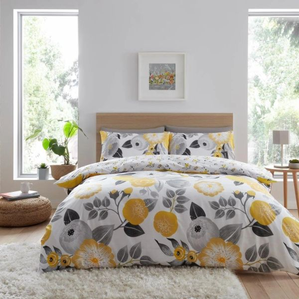 Neve yellow duvet cover