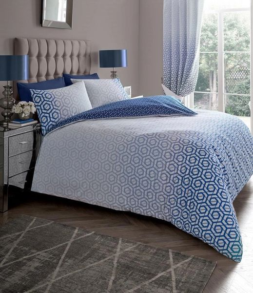 Ohari blue duvet cover